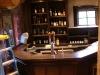 custom white oak home bar