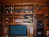 built in entertainment system - all reclaimed lumber