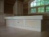 built in platform bed - maple
