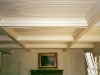 painted poplar coffers and tongue and groove ceiling work
