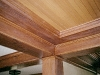 cherry coffered ceiling with tongue and groove