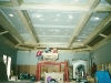 beamed and paneled ceiling work