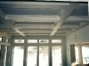 coffered ceiling and window trim