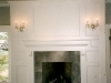 fireplace and paneling