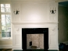 fireplace with bracketed mantle