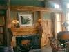 rustic oak fireplace