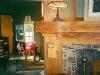rustic oak fireplace detail