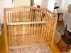 custom oak crib