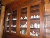 massive quarter sawn white oak display cabinet