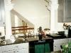 custom kitchen with elaborate trim work