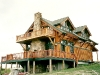 craftsman cottage style hunting lodge - porches