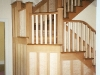 cherry and maple burled staircase