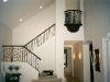 custom staircase with wrought iron