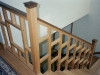 red oak and walnut staircase