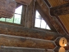 window trim in log home