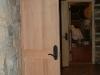 custom fir door built on site