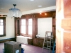 cherry cabinetry and window trim