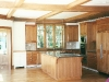 cherry coffered ceiling and kitchen install