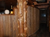 recycled lumber wall